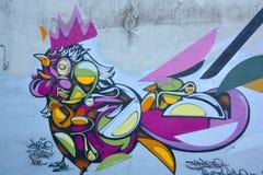 Street art woman in Paris France Royalty Free Stock Photos