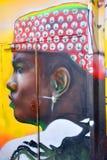 Street art woman in Paris France Royalty Free Stock Image