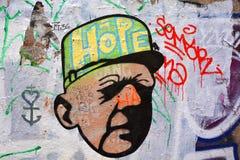 Street art woman in Paris France Stock Photo