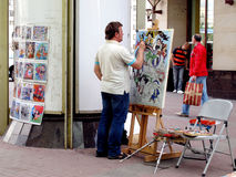 Street artist Royalty Free Stock Images