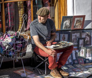 Street artist Edinburgh Scotland Stock Photography