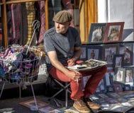 Street artist Edinburgh Scotland Stock Photography