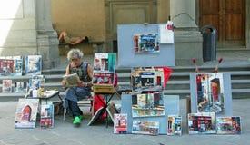 Street Artist Florence stock image