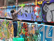 Street artist Melbourne graffiti  Royalty Free Stock Photography