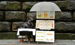 Street artist in Italy  Stock Photo