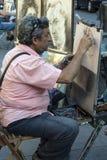 Street Artist - La Rambla - Barcelona - Spain Royalty Free Stock Image
