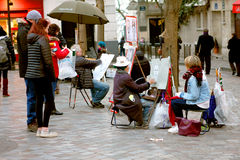 Street artist - Montmartre Royalty Free Stock Photography