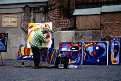 Street artist in munich Stock Photos