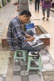 Street artist,painter Royalty Free Stock Image