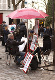 Street artist - Paris Royalty Free Stock Photography