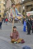 Street artist, Prague Stock Photography