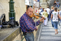 Street artist, Prague Royalty Free Stock Photo
