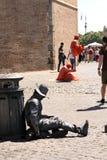 Street artist Rome Italy Royalty Free Stock Photo