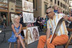 Street artist Stock Photography