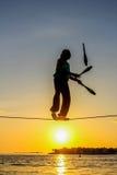 Tightrope walker Stock Image