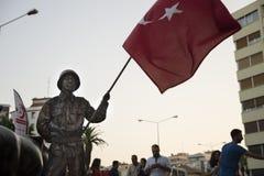 Street artist, Turkish soldier Stock Images