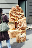 Street artists as statue, April 7 Royalty Free Stock Photos