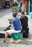 Street artists from Galway Ireland.  royalty free stock images
