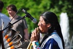 Street artists Indian folk music group Stock Image