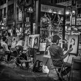 Street Artists - Monochromatic Stock Photography