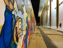 Street arts. Art story prohibit show performing cool love building reflections bus cold night beautiful great Kennedy center Stock Photography
