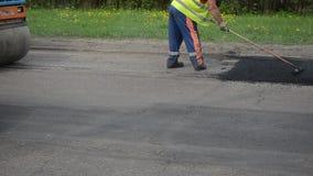 Street asphalt repair stock video