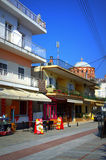 Street in Asprovalta resort town,Greece Stock Photography