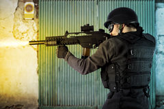 Free Street Assault, Riot Police Firing Stock Image - 17404801