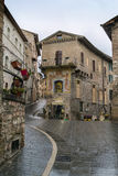 Street in Assisi, Italy Royalty Free Stock Photos