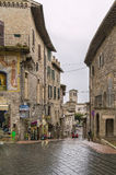 Street in Assisi, Italy Stock Photo