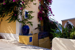 Street of Assos, Kefalonia Royalty Free Stock Photography