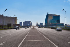 On the street in Astana Stock Photography