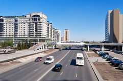 On the street in Astana Royalty Free Stock Images