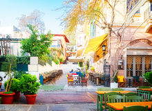 Street of Athens, Greece Stock Images