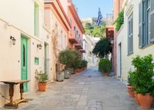 Street of Athens, Greece Royalty Free Stock Images
