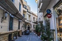 Street in Athens. Athens view from acropolis 2016 Royalty Free Stock Photos