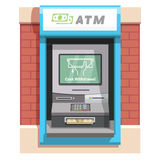 Street ATM teller machine with current operation Stock Images