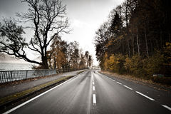 Street in autumn scene Royalty Free Stock Image