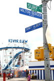 Street and avenue close to Coney island's Luna park. New York. USA Royalty Free Stock Photo
