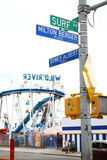 Street and avenue close to Coney island's Luna park. New York. USA Stock Photo