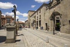 Street in Avila, Spain Stock Images
