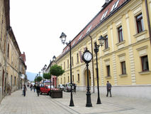 Street in Baia Mare Stock Photography
