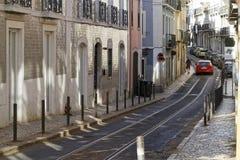A street of Bairro Alto Stock Image