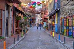 Street of Balat stock photos