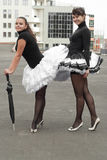 Street ballerinas Stock Photos
