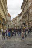 It is street balloon in Prague royalty free stock photos