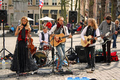 Street band in Bruges (Belgium) Royalty Free Stock Photos