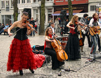 Street band in Bruges (Belgium) Stock Photo