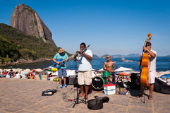 Street Band Concert in a Beautiful Place of Rio Royalty Free Stock Photos