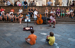 Street band in Florence Stock Images